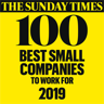 The Sunday Times 100 Best Small Companies to work for 2019