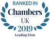 Chambers UK 2019 Leading Firm